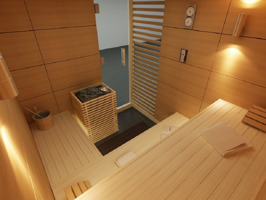 Design-Entwurf zu Elementen Sauna Baltes Swim Spa & Home